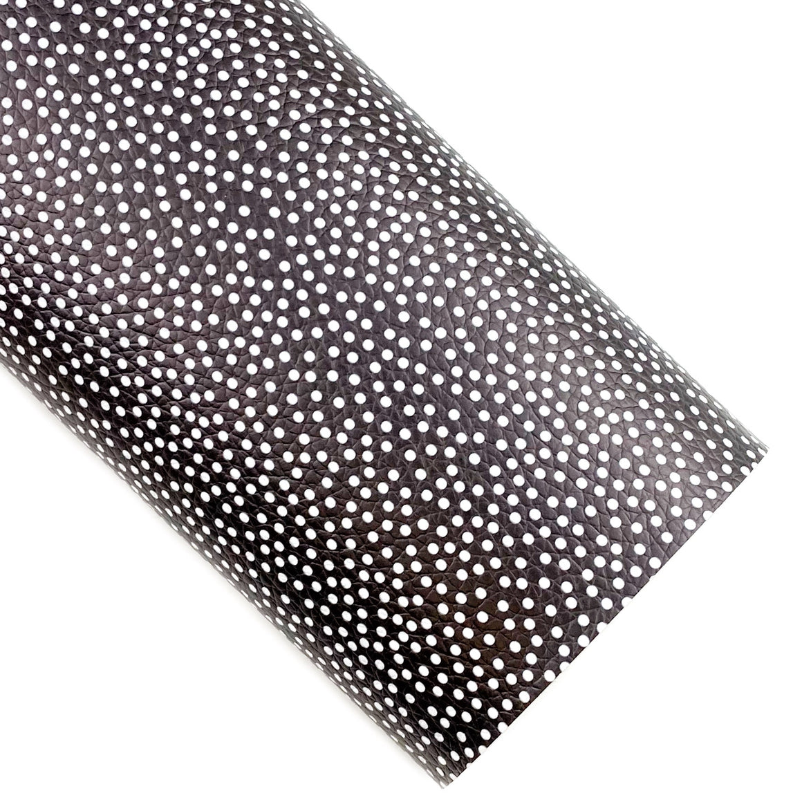 Black Scattered Dots Vegan Leather