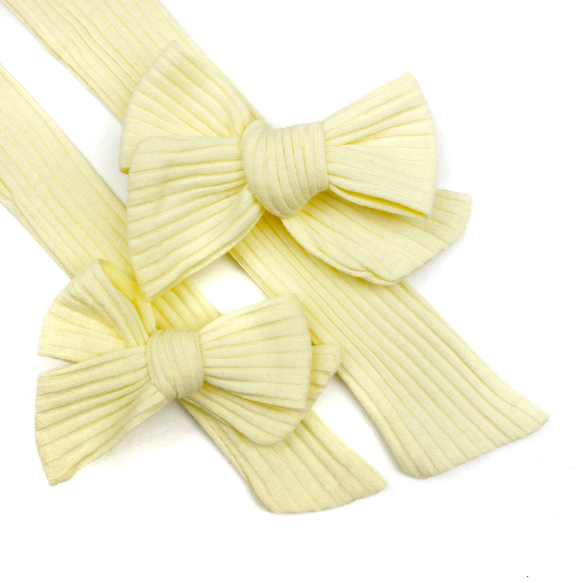 Honey Butter Rib Knit JB Effortless Bow Strips - Closed Edge