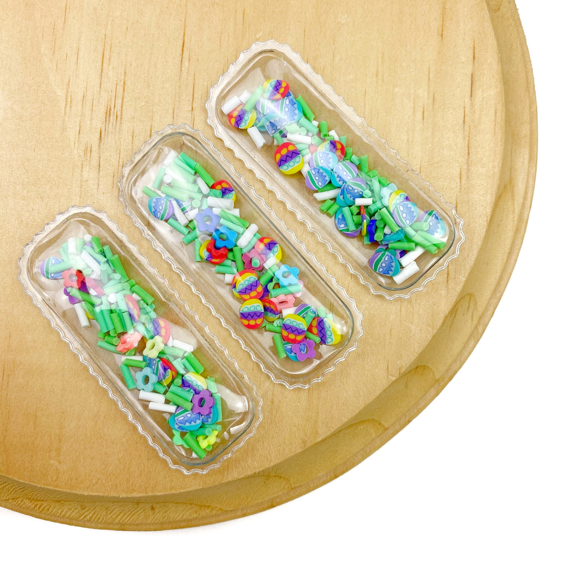 Hidden Easter Egg Pieces Shaker Snap Clip Covers