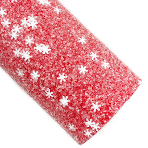 Red Ice & Snow Chunky Glitter