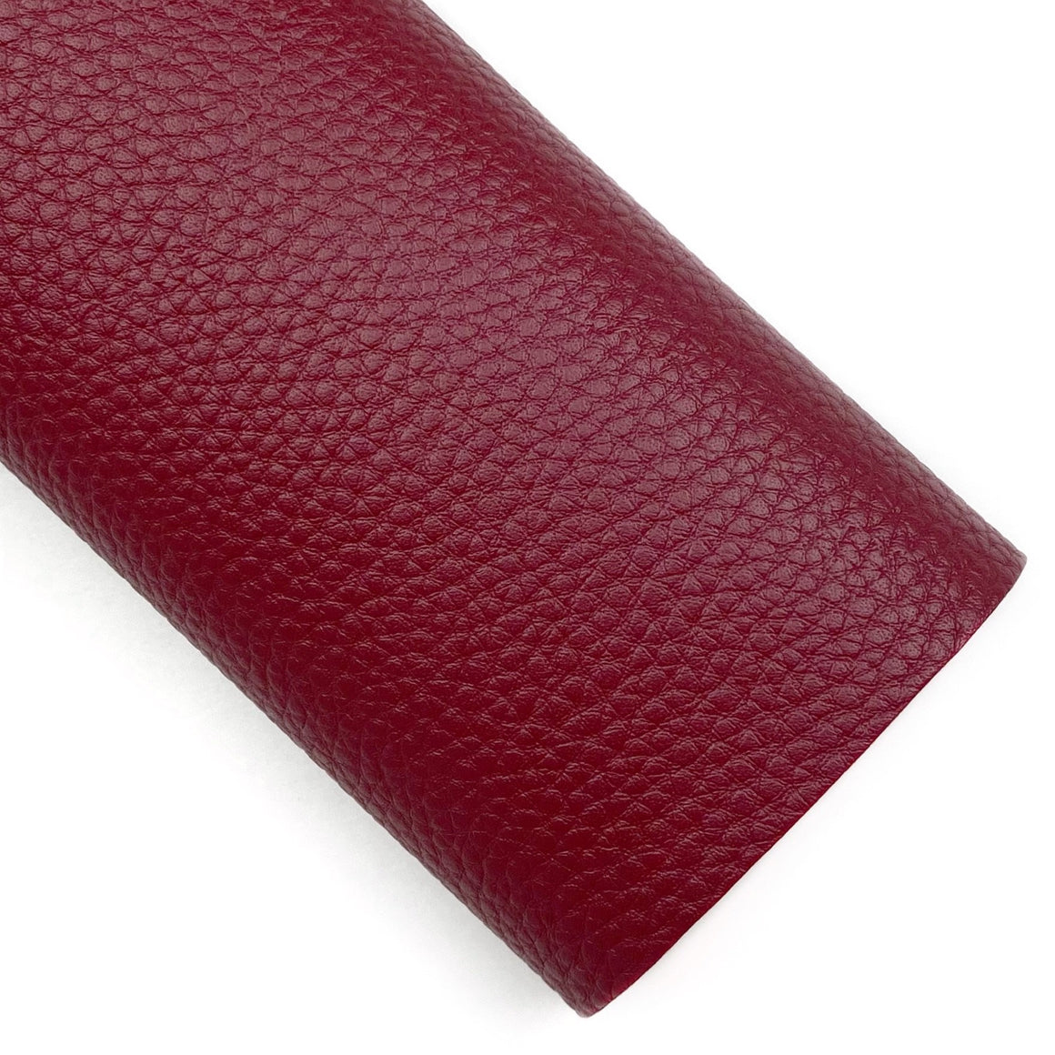 Burgundy Pebbled Vegan Leather