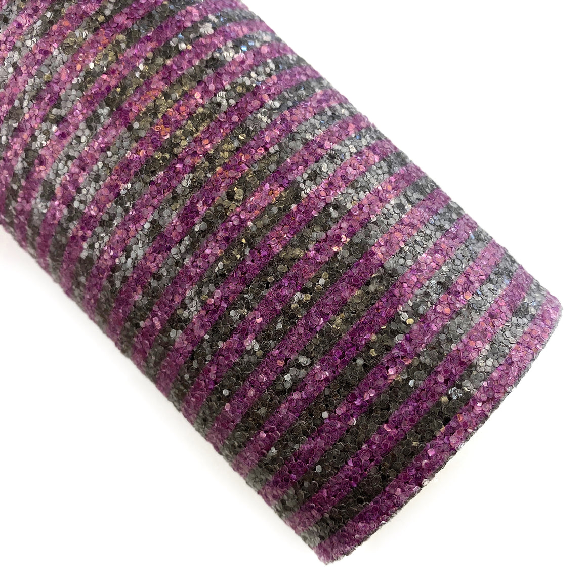 Witch's Purple Stripes Chunky Glitter
