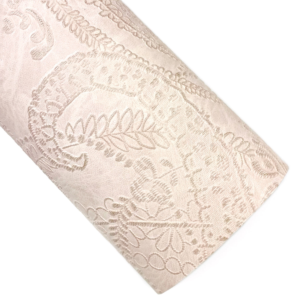 Blush Applique Lace Embossed Vegan Leather