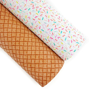Waffle Cone Embossed Vegan Leather