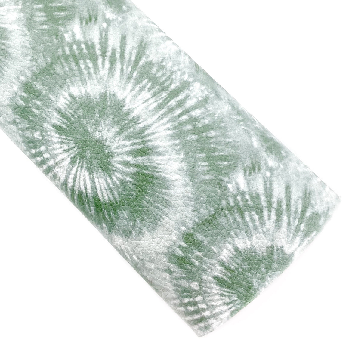 Olive Tie-Dye Vegan Leather