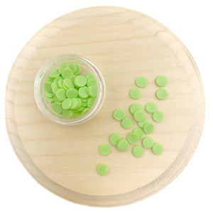 Green Round Sprinkles Polymer Clay Pieces