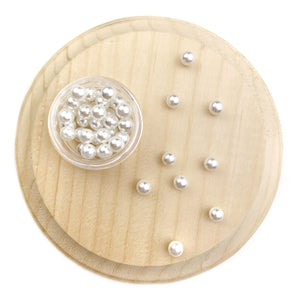 6 mm White Imitation Pearl Resin
