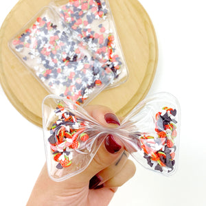 Chocolate Covered Strawberries Shaker Bow Pouch