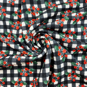 Holly Berry Plaid Bullet Fabric