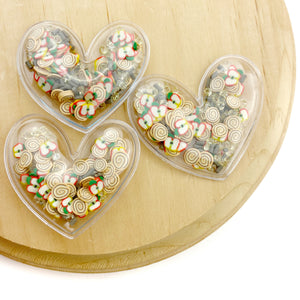 Cinnamon Apple Mix Heart Shaker Appliques