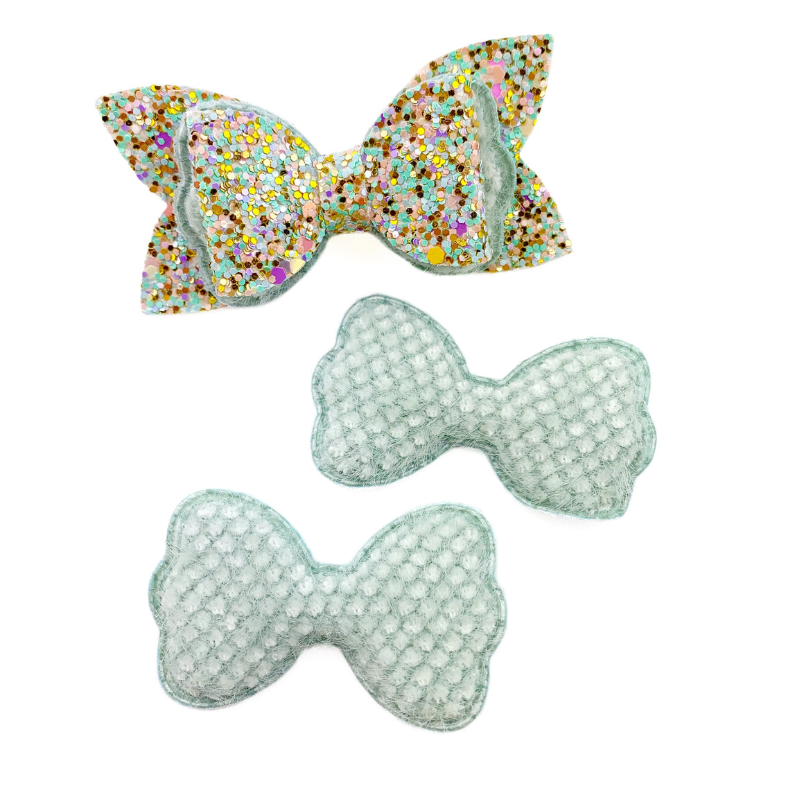 Set of 3 Plush Bow Appliques
