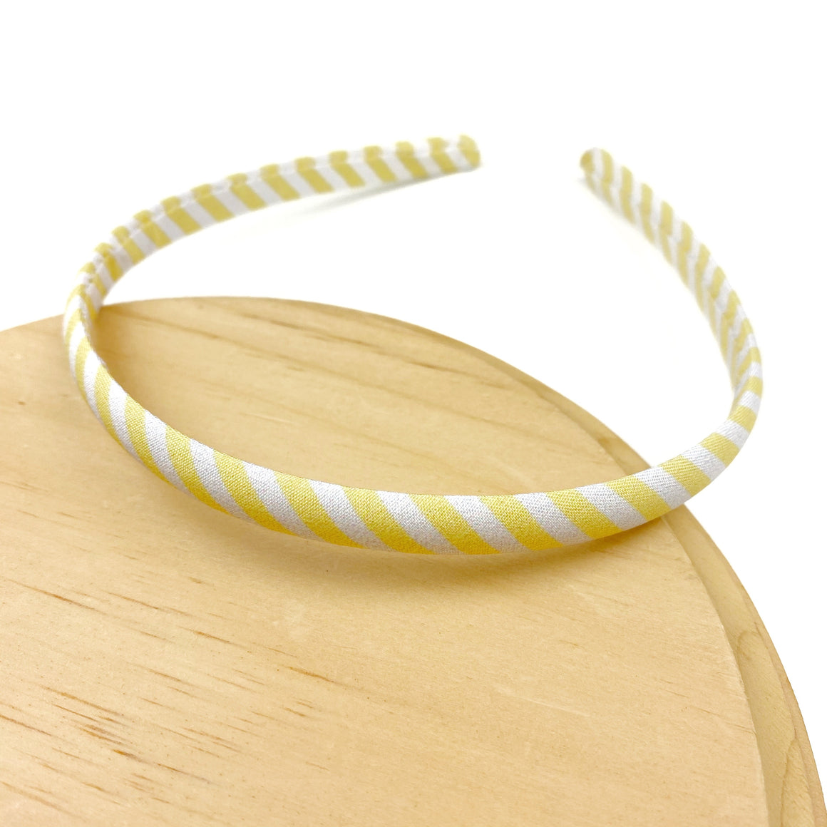 Lemon Seersucker Thin Wholesale Headband