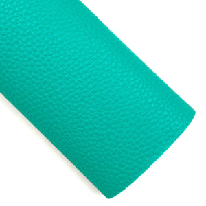 Turquoise Pebbled Vegan Leather