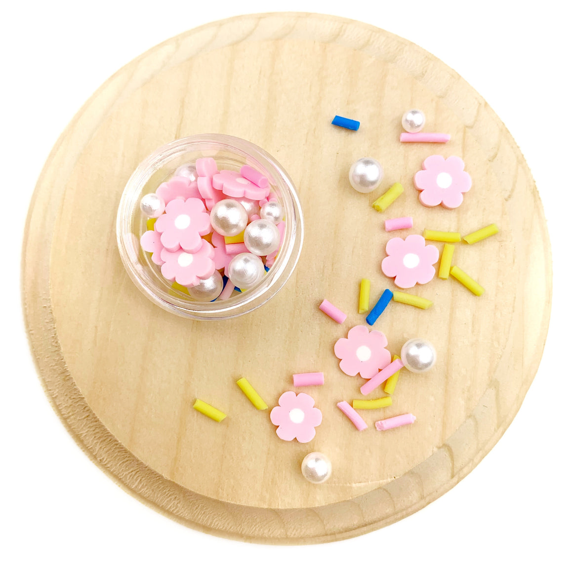 Pink Blooms Mix Polymer Clay Pieces