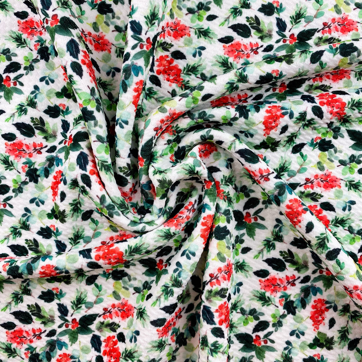 Boughs of Holly Bullet Fabric
