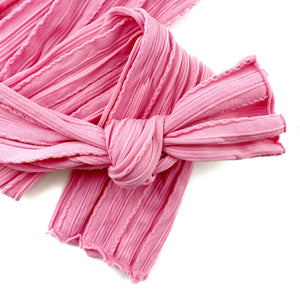 Vintage Pink Braid Knit Nylon Material