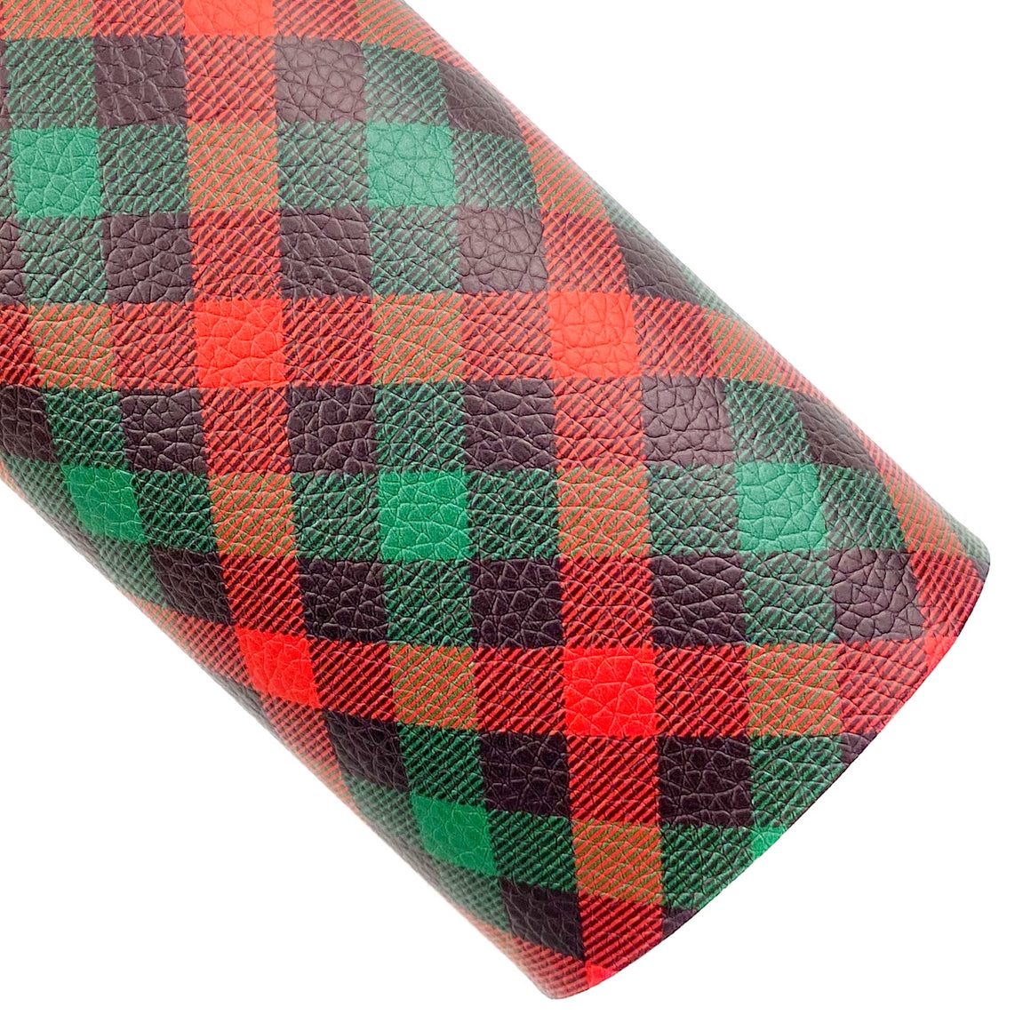 Christmas Eve Plaid Vegan Leather