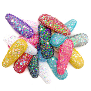 Set of 3 Dazzling Geometric Glitter Snap Clip Covers