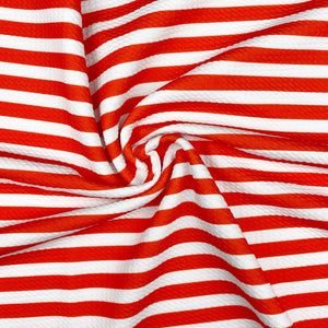 Red & White Stripes Bullet Fabric
