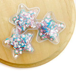 Happy Day Rainbow Mix Star Shaker Appliques