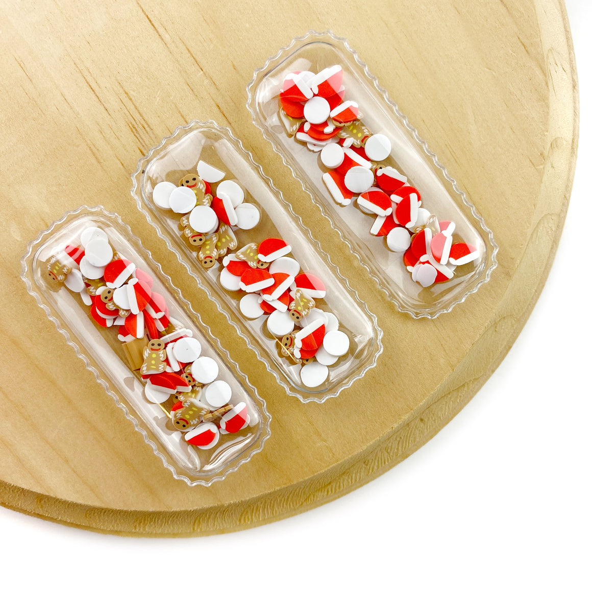 Santa's Milk & Cookies Shaker Snap Clip Covers