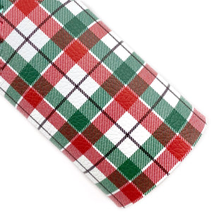 Christmas Spirit Plaid Vegan Leather