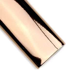 Rose Gold Mirror Patent Vegan Leather