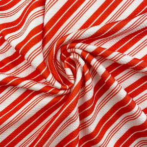 Candy Cane Stripes Bullet Fabric