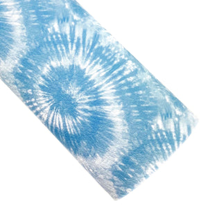 Dusty Blue Tie-Dye Vegan Leather