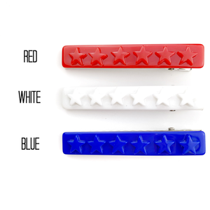 Set of 3 Star Acrylic Alligator Hair Clips