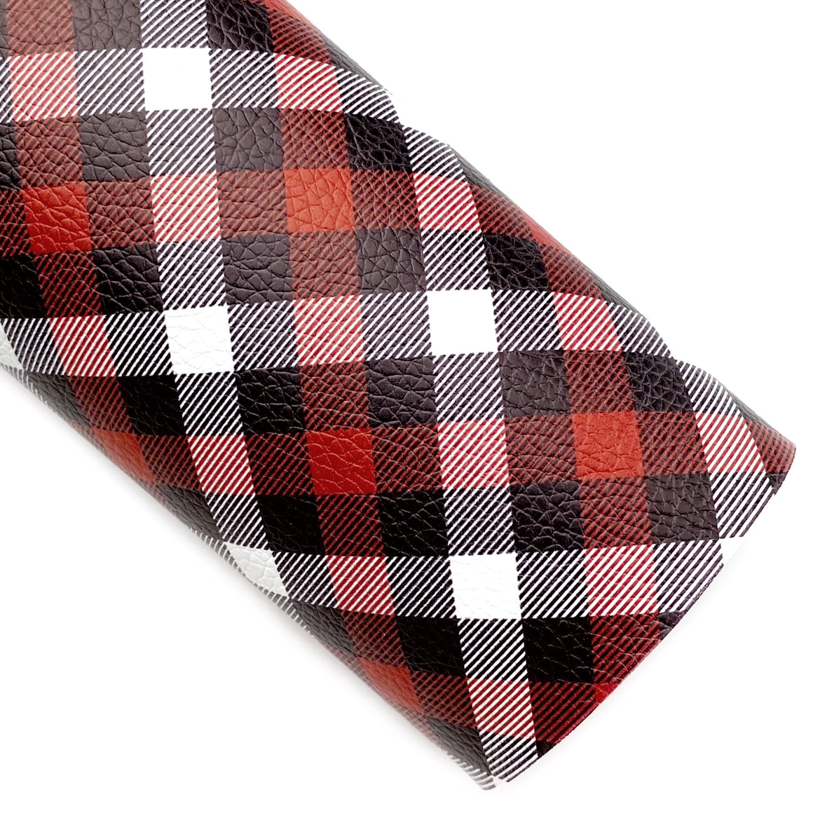 Saint Nick Plaid Vegan Leather