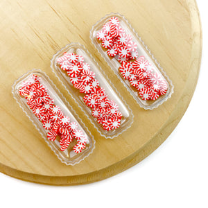Peppermint Candies Shaker Snap Clip Covers