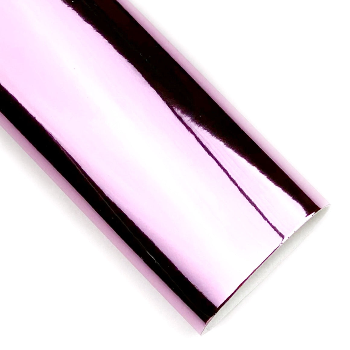 Pink Mirror Patent Vegan Leather