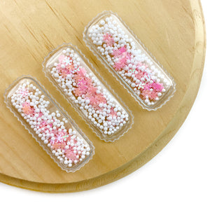 Pink Snow Globe Shaker Snap Clip Covers