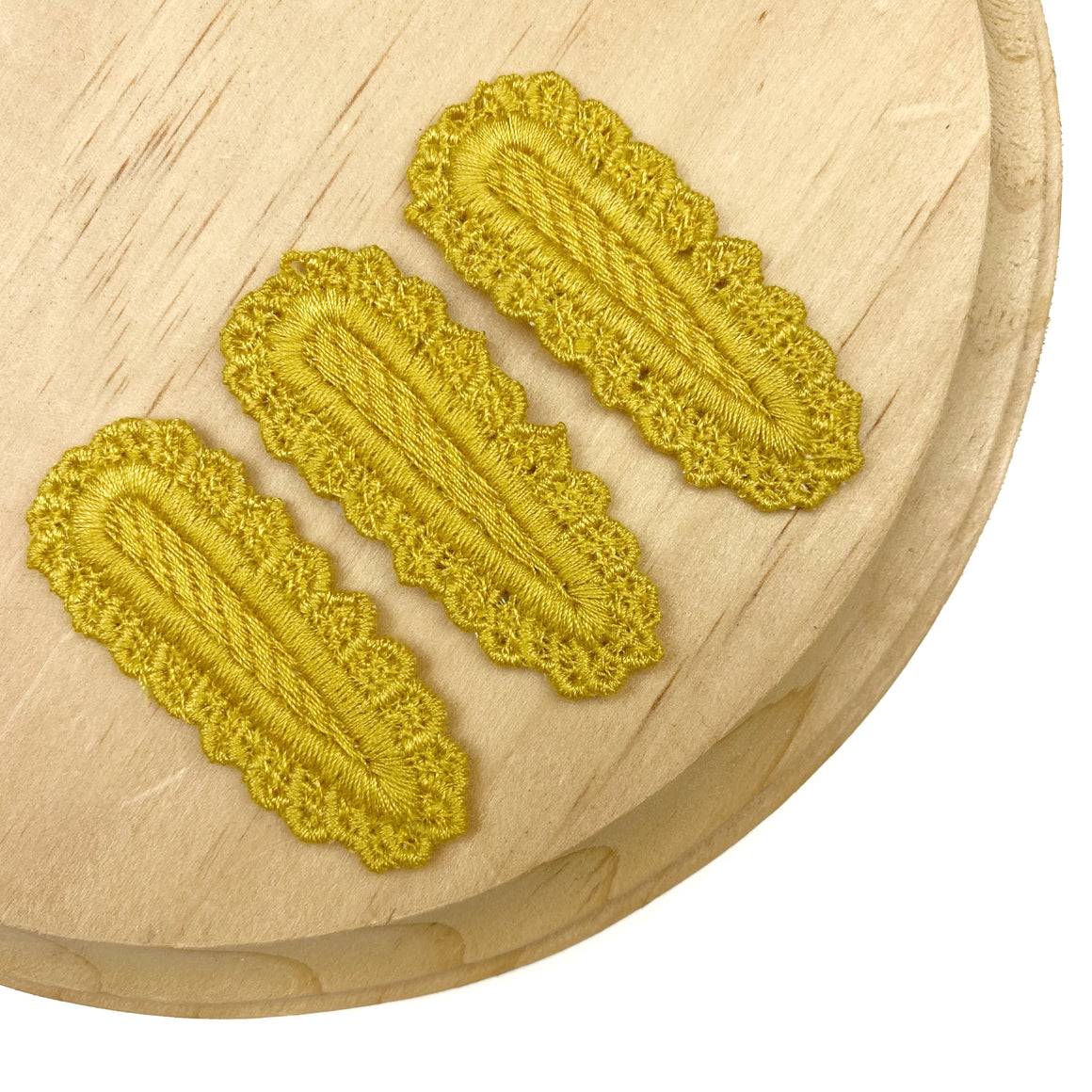 Set of 3 Mustard Crochet Snap Clip Covers