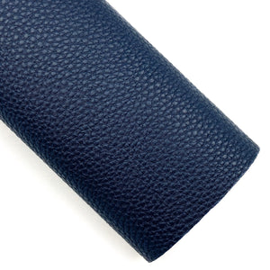 Navy Pebbled Vegan Leather