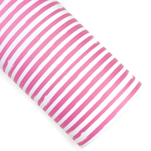 Pink Flower Shop Stripes Vegan Leather