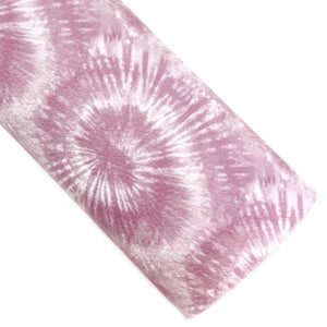 Mauve Tie-Dye Vegan Leather