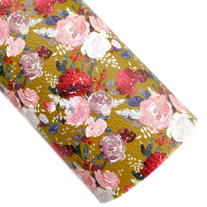 Awe of Autumn Floral Vegan Leather