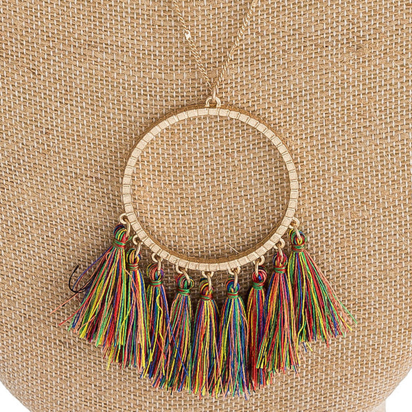 Fall Tassel Necklace