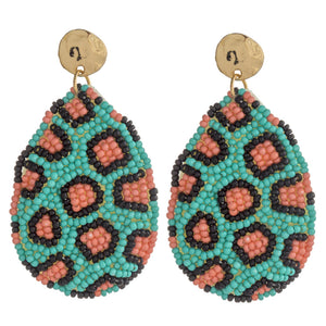 Turquoise & Pink Earring