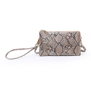 Riley Python Compartment Wristlet/Crossbody
