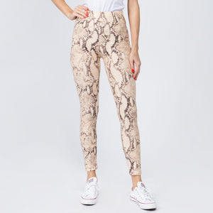 """Snake Skin"" Peach Leggings"