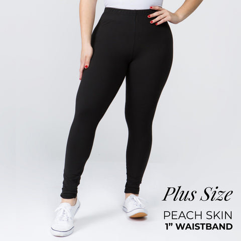 'PEACH SKIN' Plus Leggings