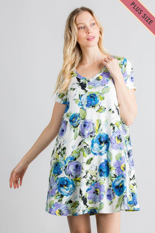"""Smell The Roses"" Floral Dress"