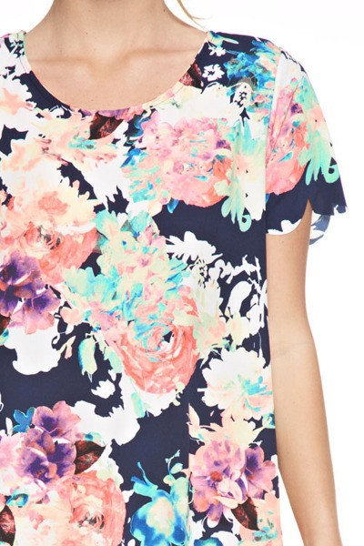 """Garden Soiree"" Floral Tunic Dress"