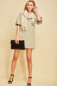 """Olive To Party"" Shift Dress"