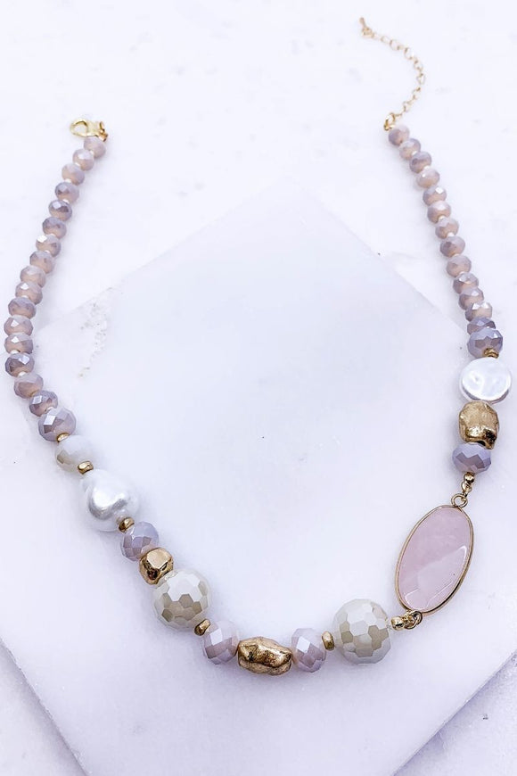 Pearl & Stone Necklace