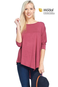"""Mad About Mauve"" Asymmetrical Top"