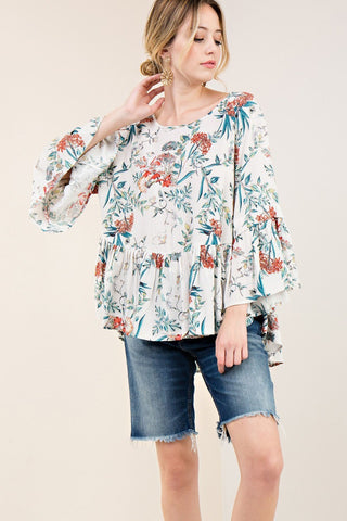 """Spring Breeze"" Baby Doll Top"